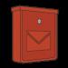 Červené pozinkované poštové schránky