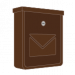 Hnedé pozinkované poštové schránky