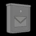 Strieborné pozinkované poštové schránky