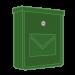 Zelené pozinkované poštové schránky